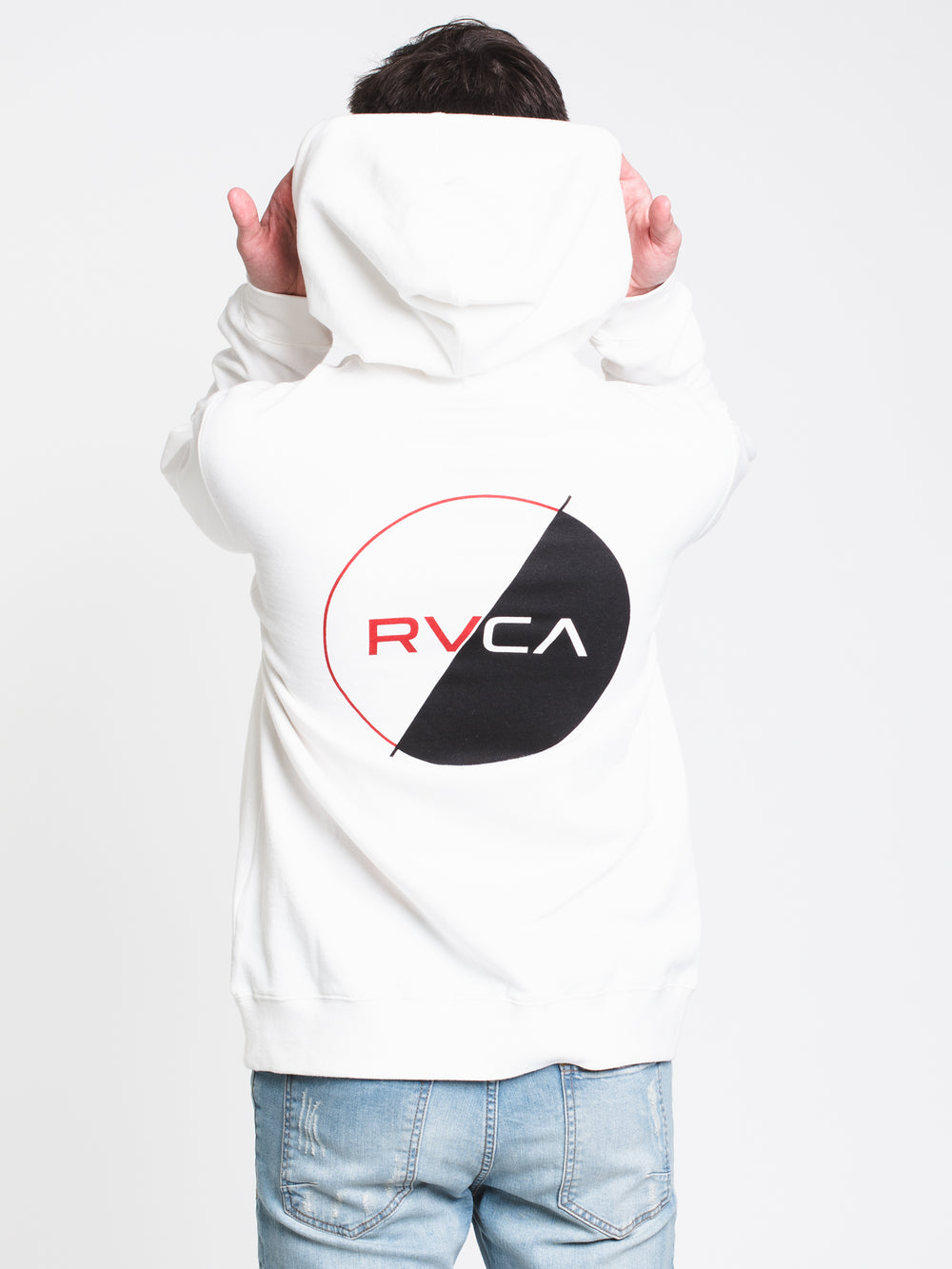 MENS LOGO PACK PULLOVER HOODIE - WHITE