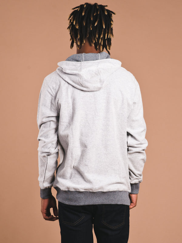 MENS REVERSAL PULLOVER HOODIE - GREY - CLEARANCE