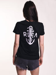 WOMENS SEA CREST TEE - BLACK