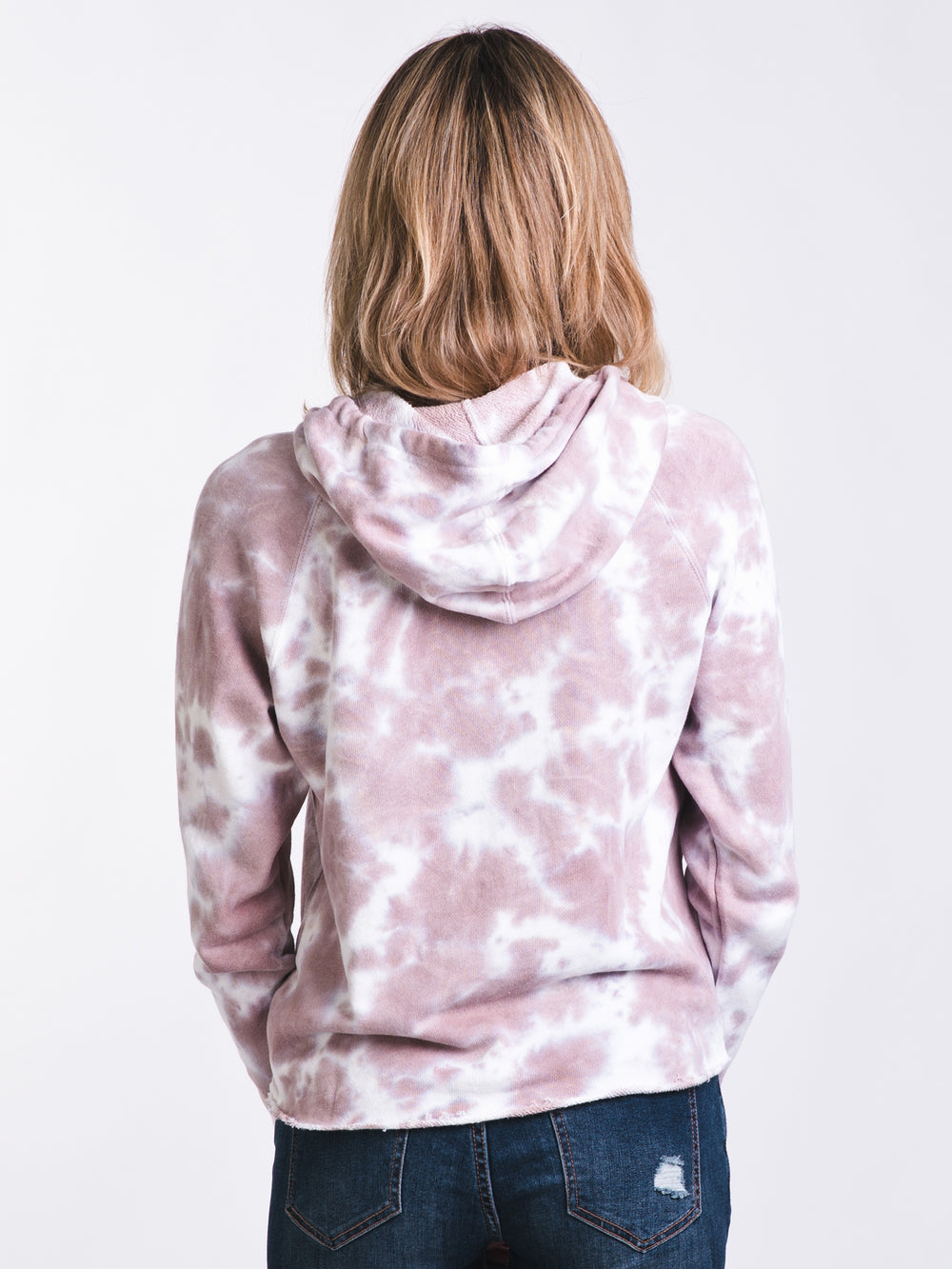 67fd6f22 WOMENS SMALL RVCA TIE DYE PULLOVER HOODY - CLEARANCE