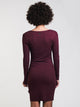 WOMENS KNOT UP DRESS - BURGUNDY