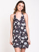 WOMENS 90's BABY HALTER DRESS - CLEARANCE