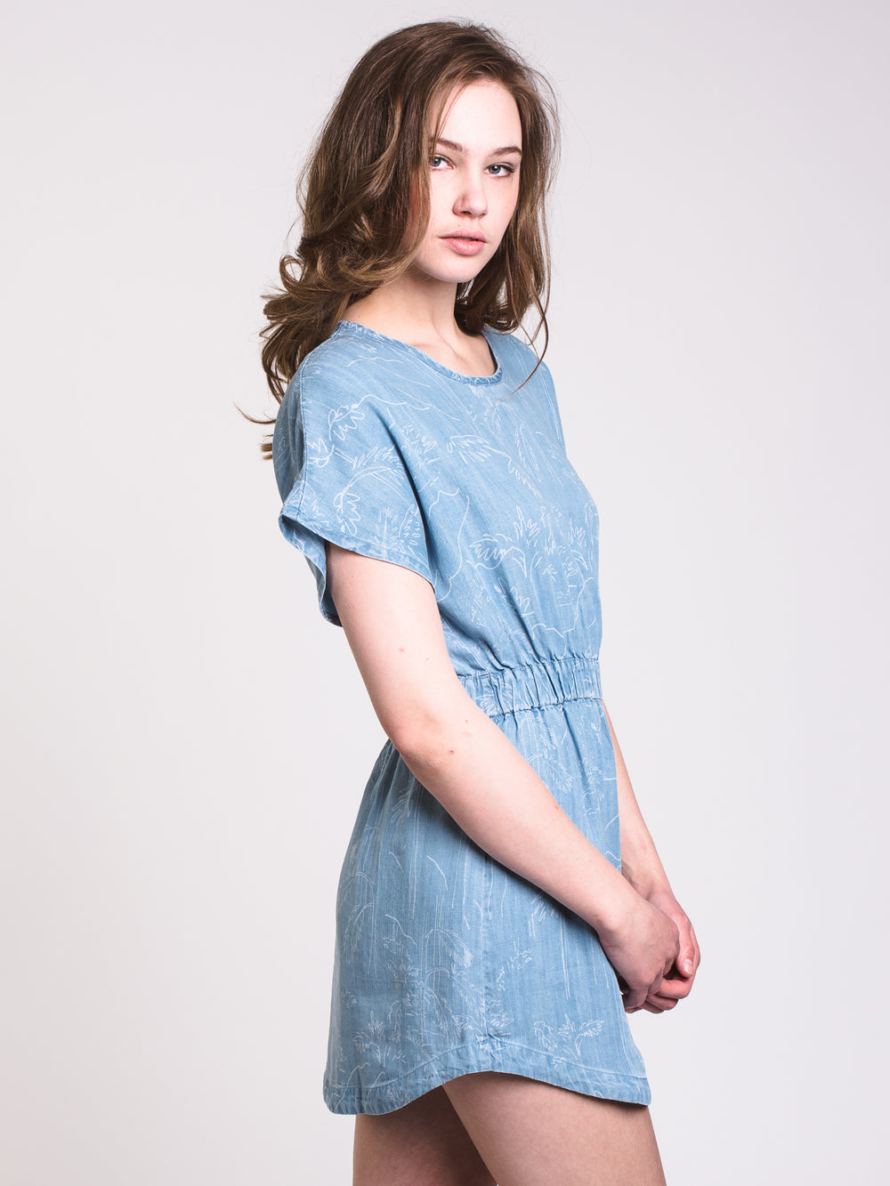 WOMENS NOTHING LEFT CHAMBRAY DRESS