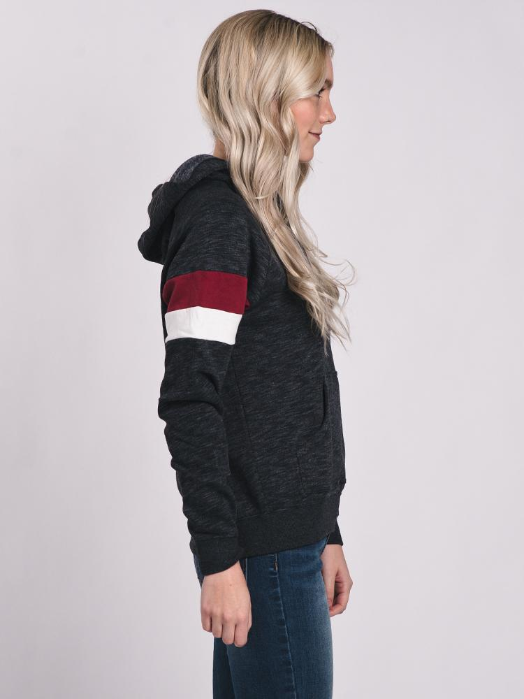 WOMENS SMALL RVCA PULL OVER HDY - BLK- CLEARANCE