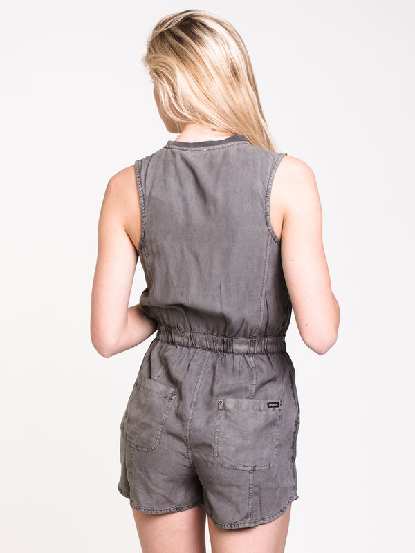 WOMENS HITCHED ROMPER - GREY