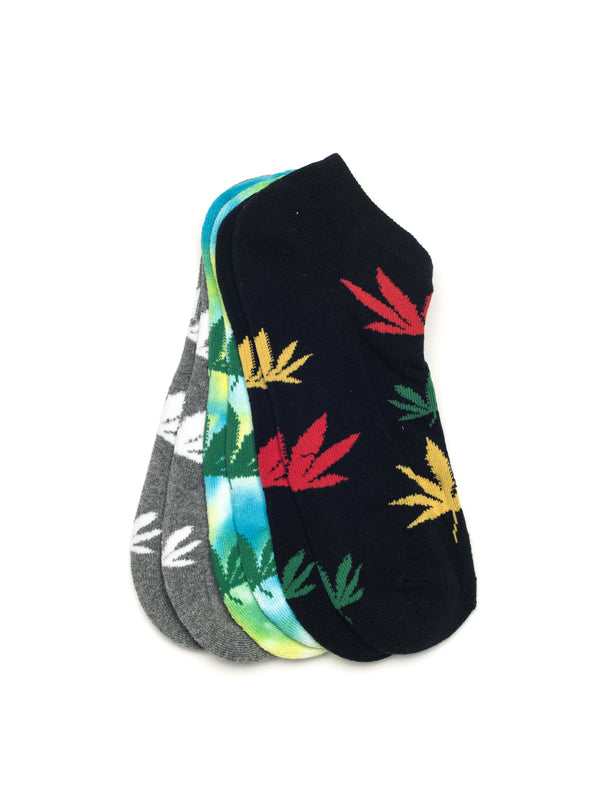 WEED ANKLE 3PK - BLU/YEL-D4