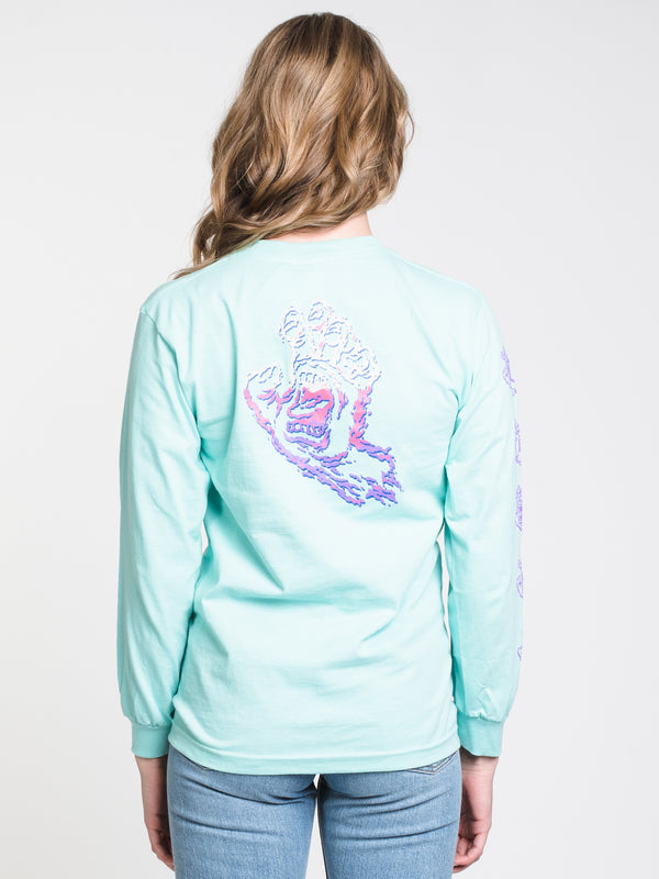 WOMENS THROWDOWN HAND LONG SLEEVE BF TEE-MINT