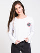 WOMENS RINGED DOT LONG SLEEVE T-SHIRT - WHITE