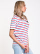 WOMENS SURGE SHORT SLEEVE BF TEE - STRIPE