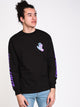 MENS SPILL HAND LONG SLEEVE T- BLACK