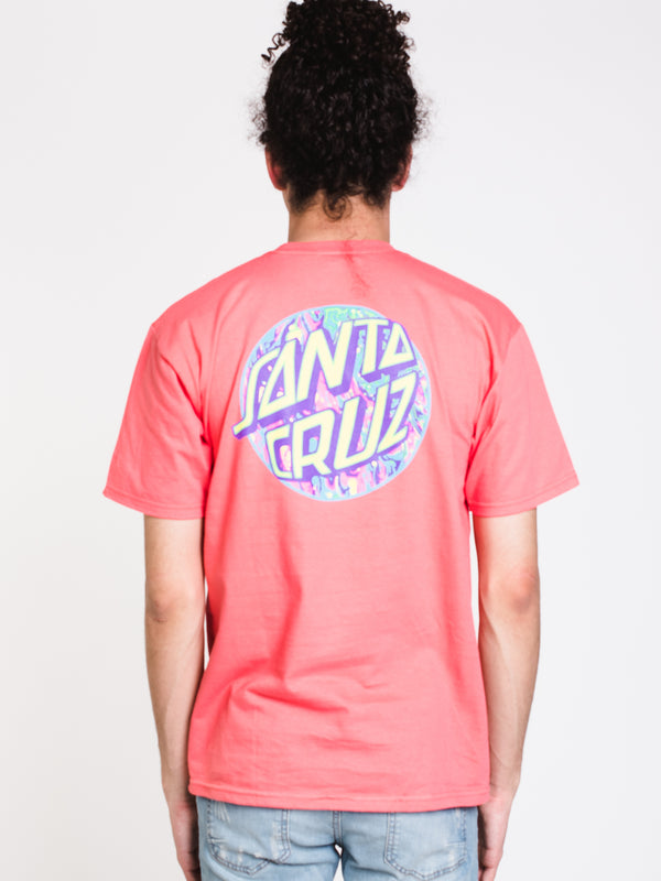 MENS SPILL DOT S/S T - CORAL