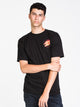 MENS FLAME HAND SHORT SLEEVE T - BLACK