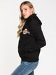 WOMENS OTHER DOT PULL OVER HOODIE - BLK