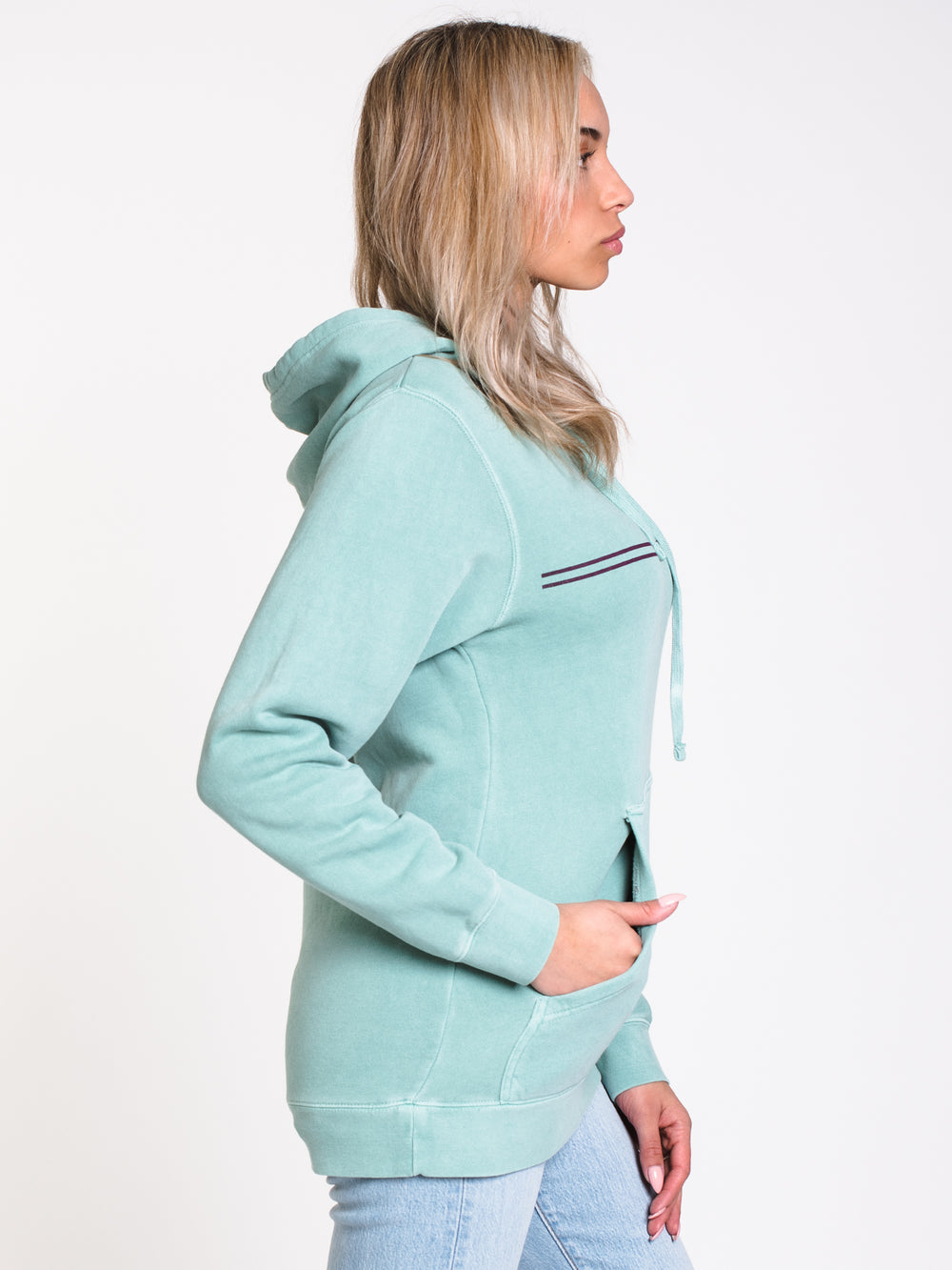 WOMENS OTHER DOT Pullover HOOD - MINT
