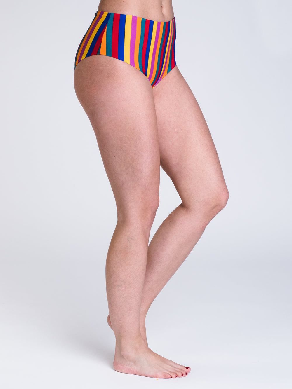 SEASIDE STRIPE MIDI SWIM BOTTOMS