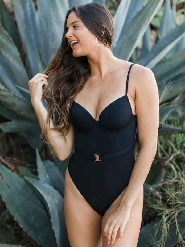 BAE-SIK BELTED ONE-PIECE
