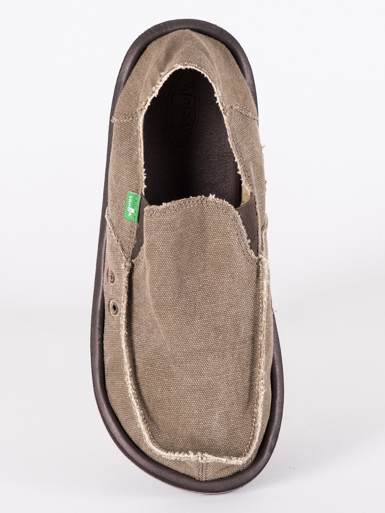 MENS VAGABOND BROWN SLIP-ONS
