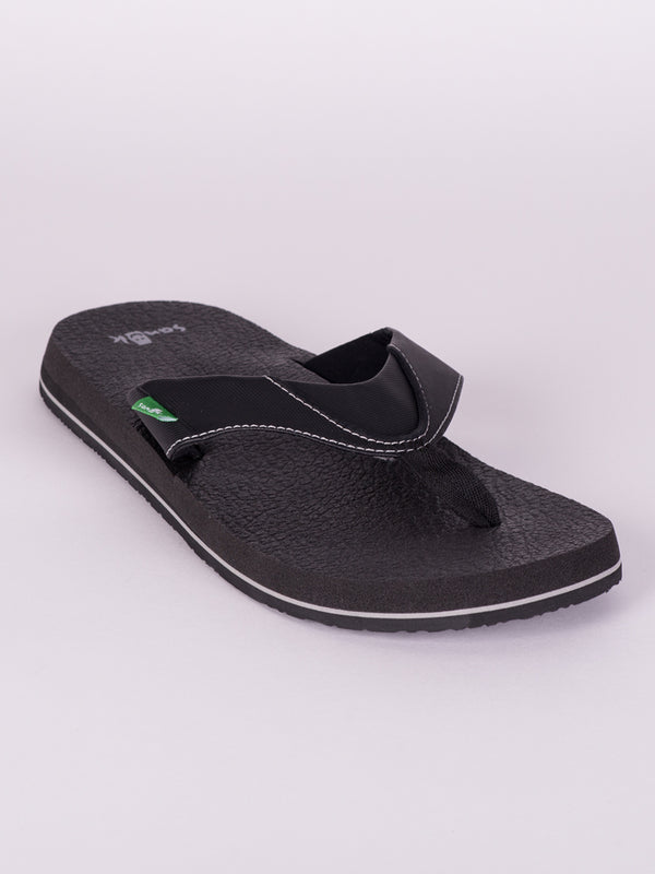 MENS BEER COZY BLACK SANDALS