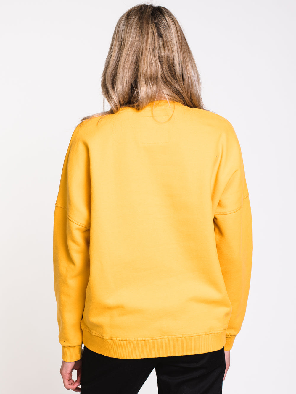 WOMENS BLAIRE CHENILLE CREW - OCHRE - CLEARANCE