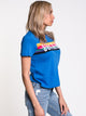 WOMENS RAINBOW GRAPHIC SHORT SLEEVE TEE - ROY - CLEARANCE