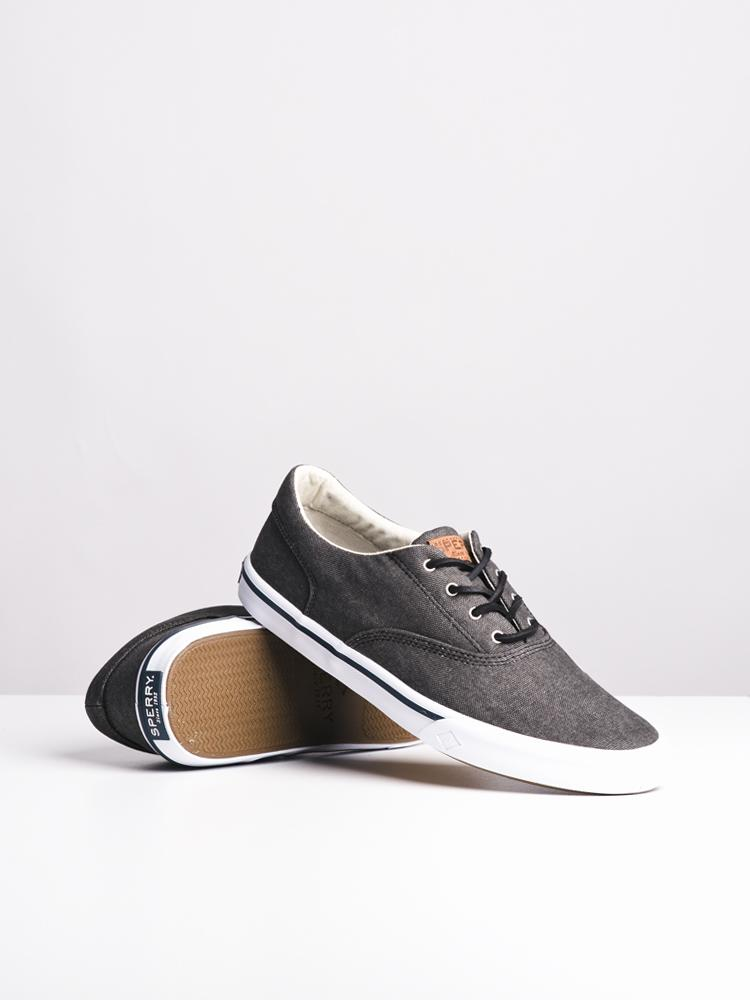 MENS STRIPER II CVO WASHED BLACK CANVAS SHOES- CLEARANCE
