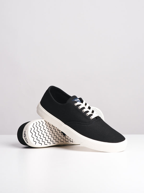 MENS CAPTAIN'S CVO BLACK CANVAS SHOES- CLEARANCE