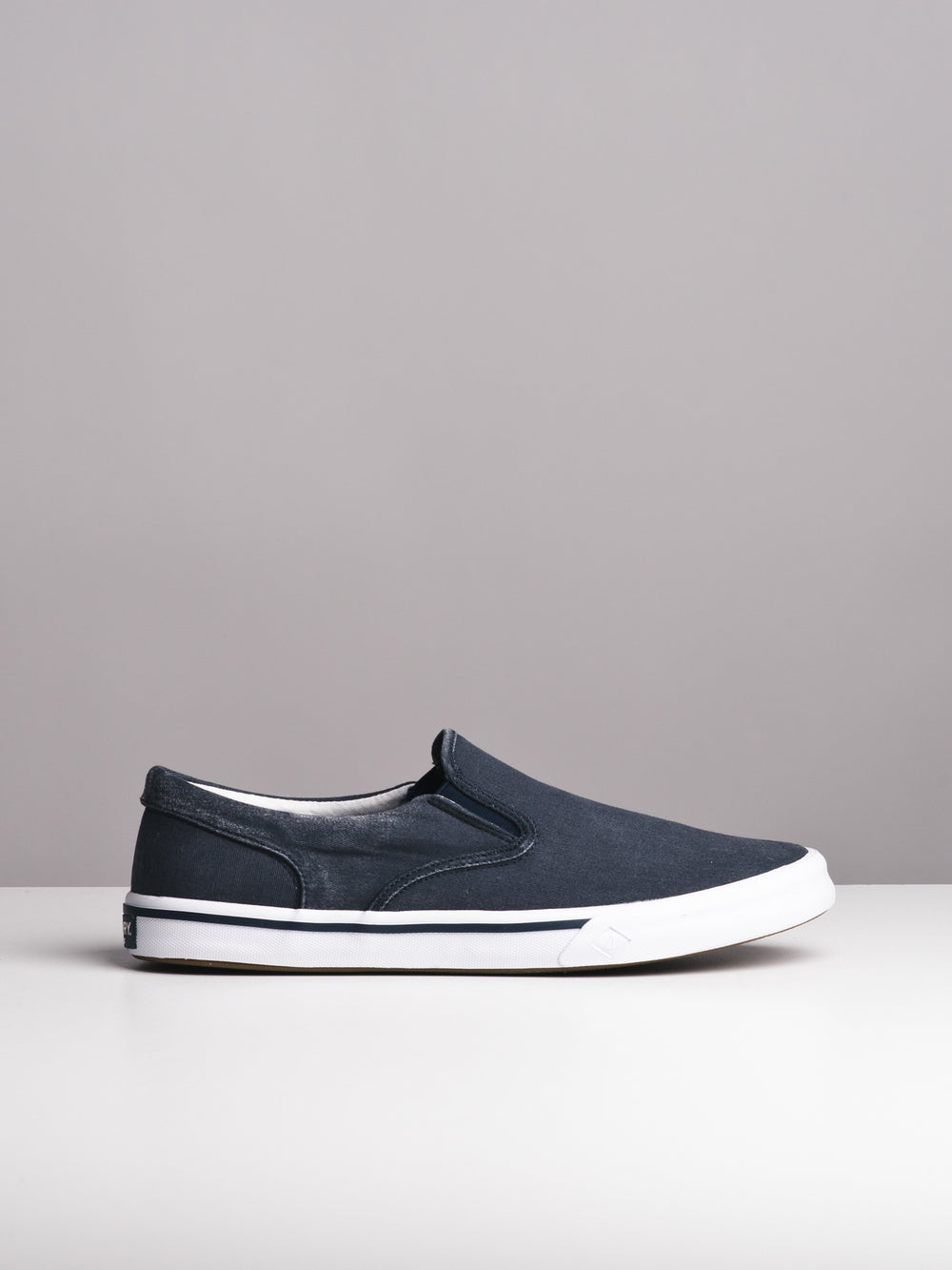 94b33f6968 MENS STRIPER II TWIN GORE NAVY SLIP-ONS- CLEARANCE
