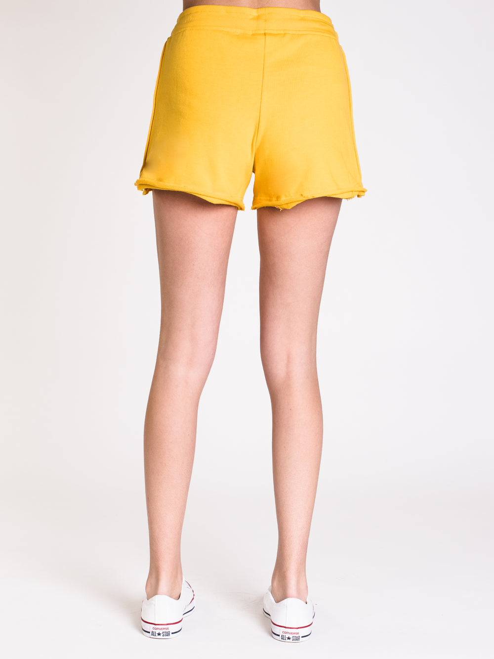 WOMENS RAW EDGE SHORT - YELLOW - CLEARANCE