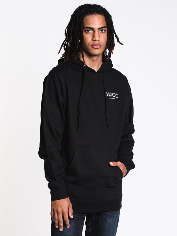 MENS SUCC THRONE PULLOVER HOODIE- BLACK