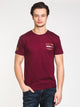MENS BRUCE SHORT SLEEVE T-SHIRT- BURGUNDY