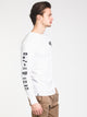 MENS ALPHA LONG SLEEVE T- WHITE