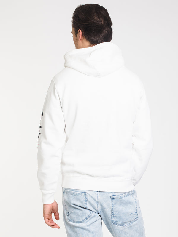 MENS TF EMB CHEST PULLOVER HOODIE - WHITE