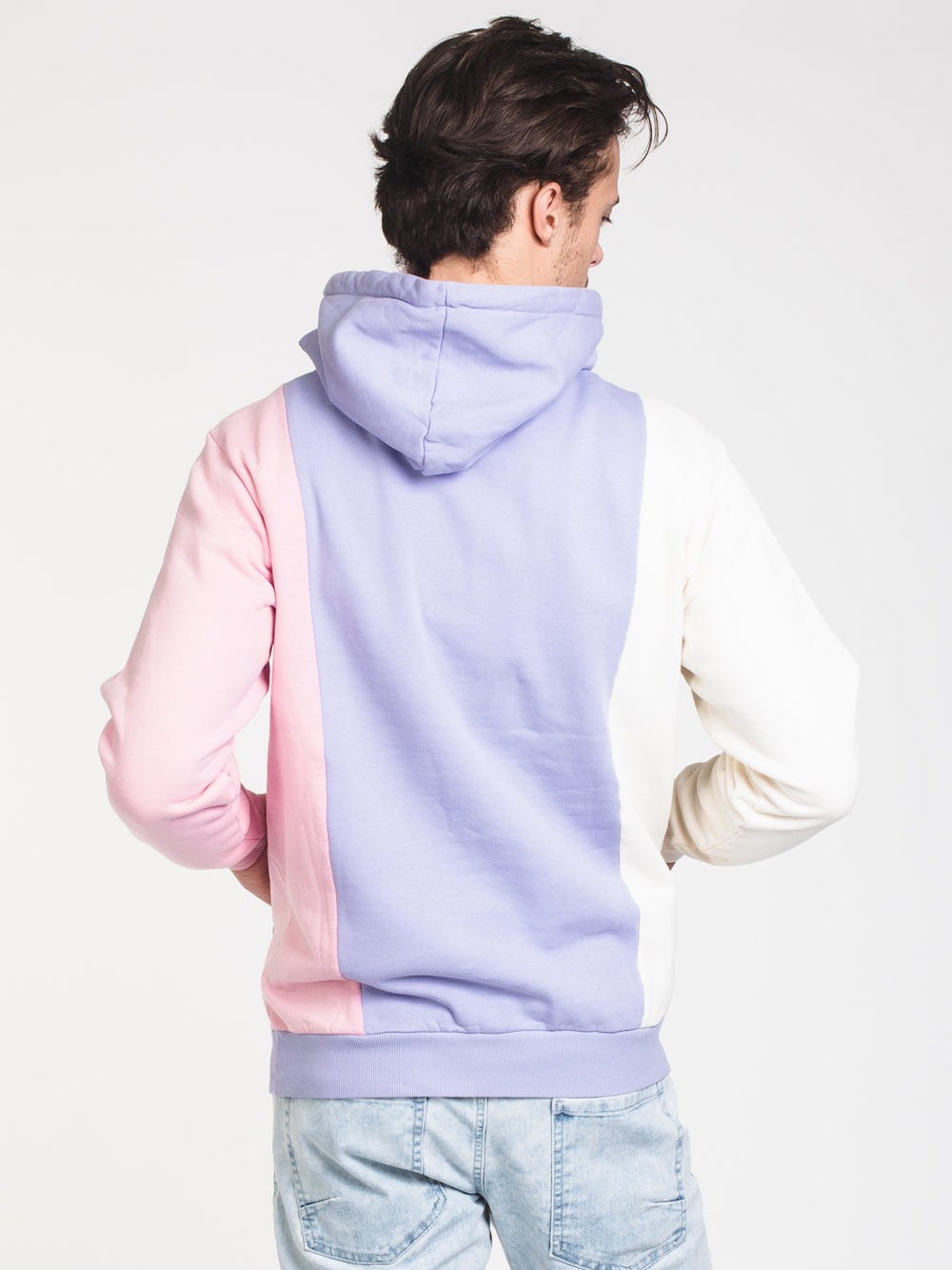 MENS 3 PANEL PULLOVER HOODIE - LILAC