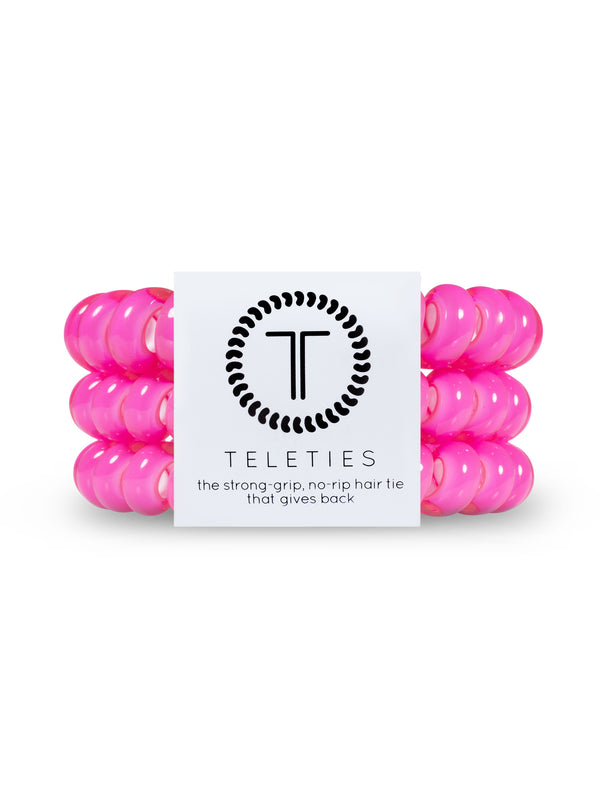 HAIR TIE LG - HOT PINK
