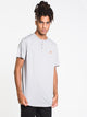 MENS STANDARD SHORT SLEEVE HENLEY - GREY