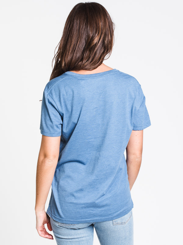 WOMENS TEN TREE SHORT SLEEVE EMB TEE - BLUE