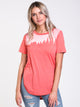 WOMENS JUNIPER LONG SHORT SLEEVE T-SHIRT - ROSE