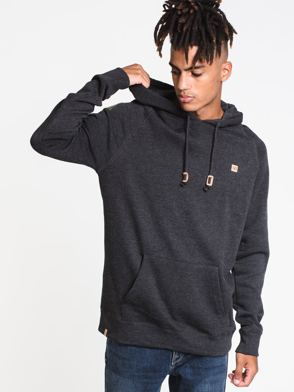 MENS ARAWIN PATCH PULLOVER HOODIE- BLACK