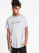 MENS LOGO EMB WORDMARK SHORT SLEEVET-SHIRT- GREY