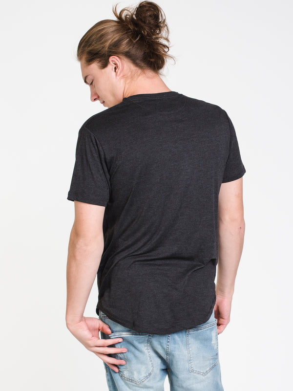 MENS LOGO EMB WORDMARK SHORT SLEEVET-SHIRT- BLK