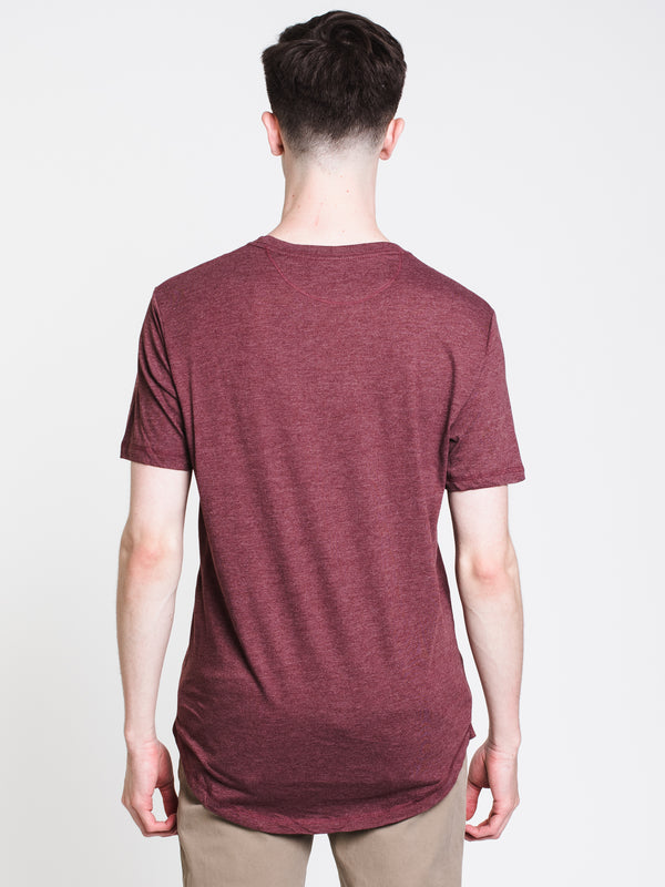 MENS JUNIPER SHORT SLEEVE PCKTT-SHIRT- MAHOGANY