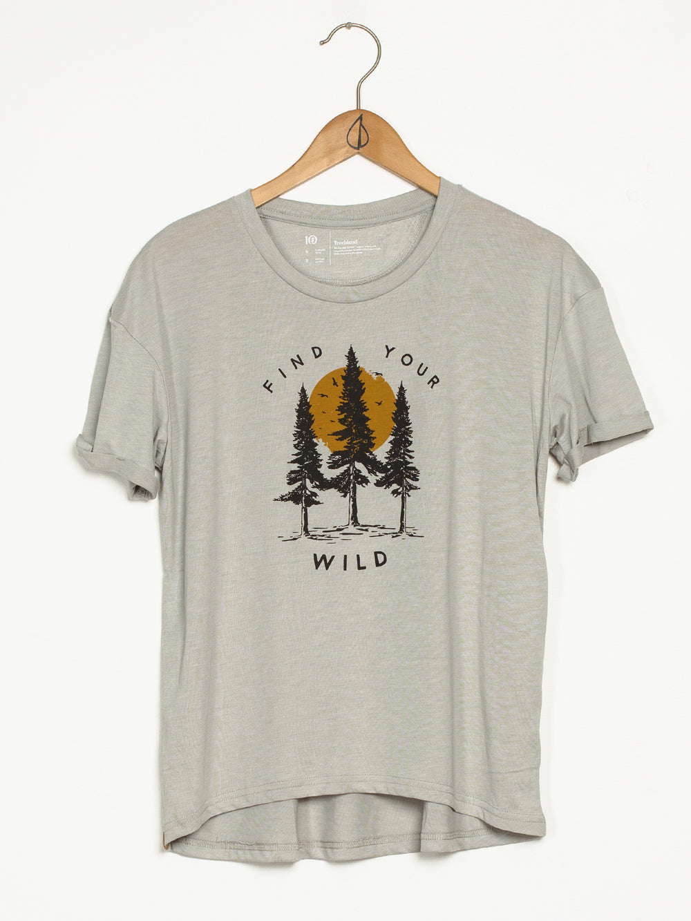 WOMENS YOUR WILD SHORT SLEEVE TEE - GREY HTHR