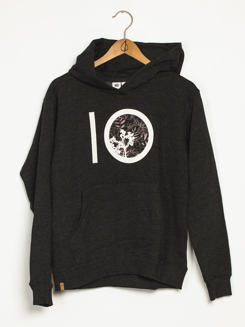 WOMENS TEN CLASSIC PULLOVER HOODIE - BLACK