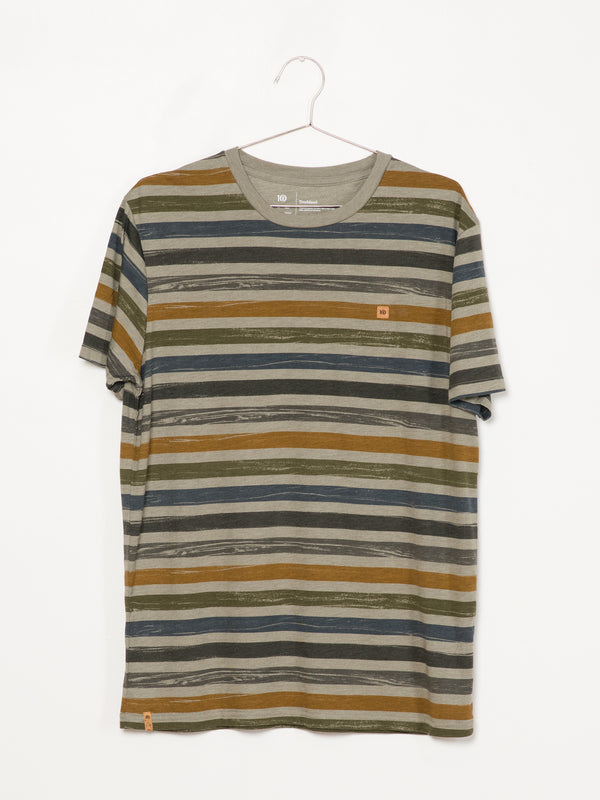 MENS TREESTRIPE PTCH CLASSIC SHORT SLEEVE T-SHIRT - STR