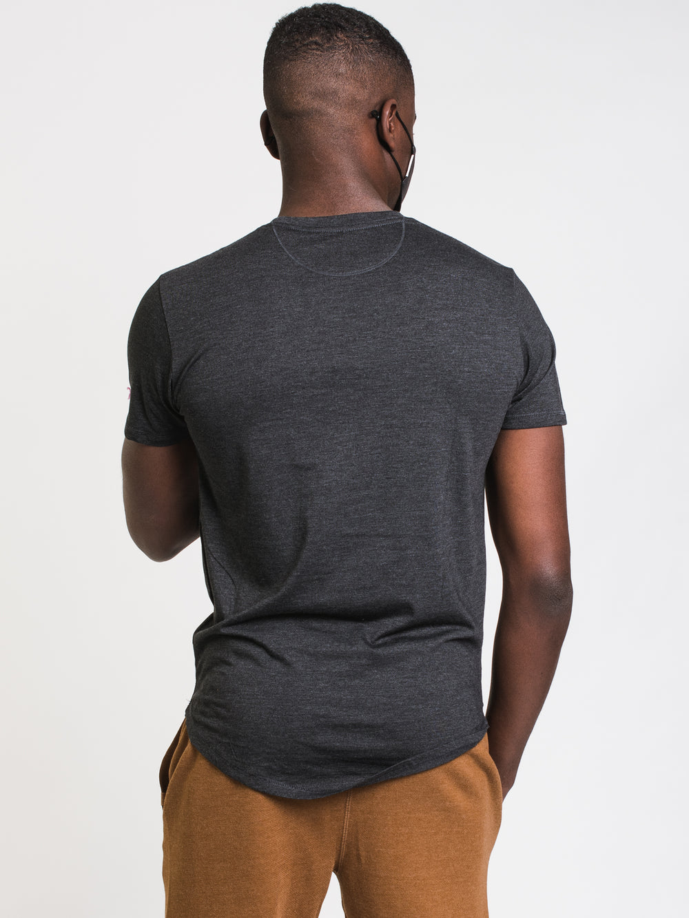 MENS SPRUCED UP LOGO SHORT SLEEVE TEE - BLACK