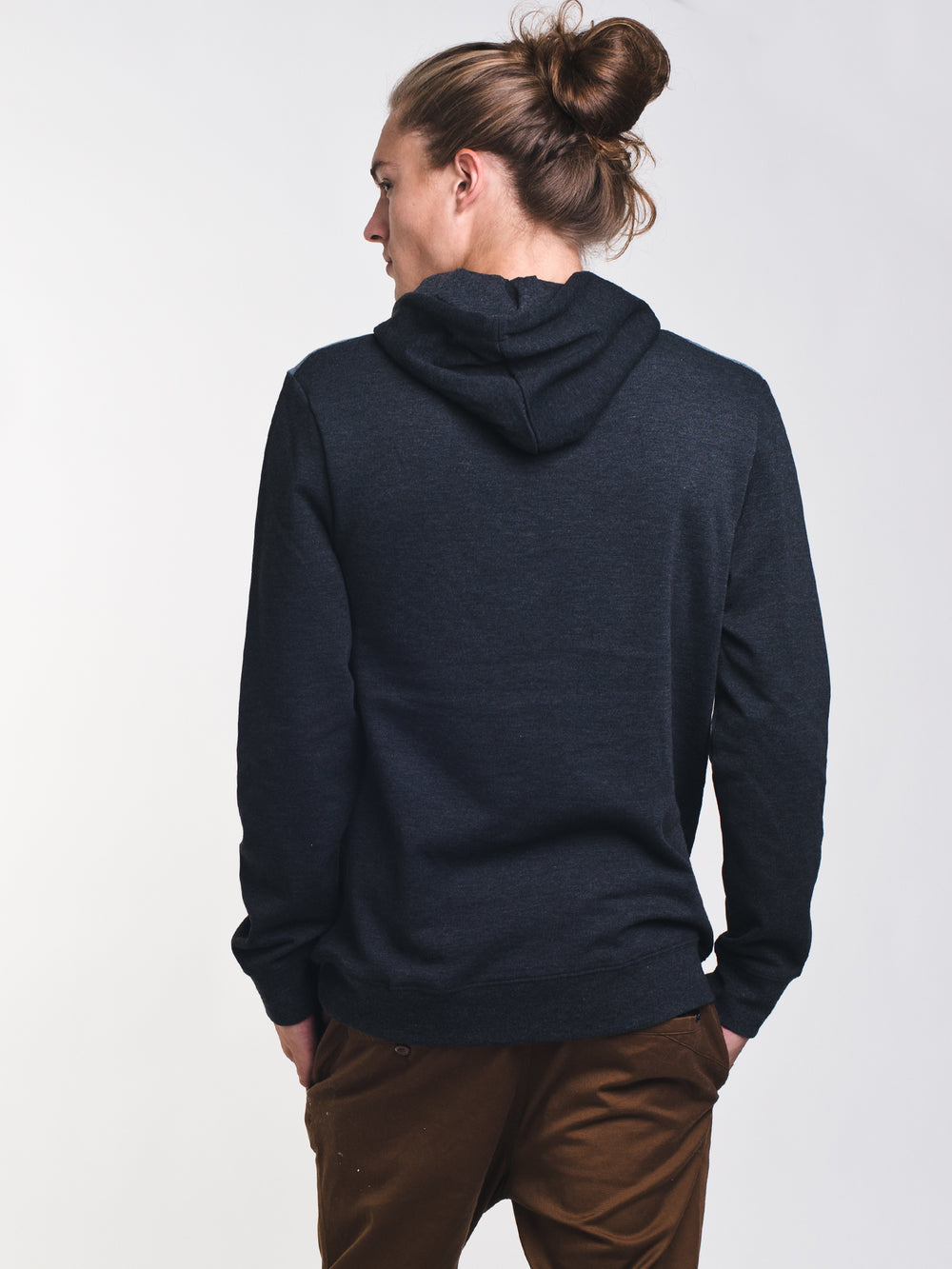 MENS JUNIPER PULL OVER HOODIE - BLACK