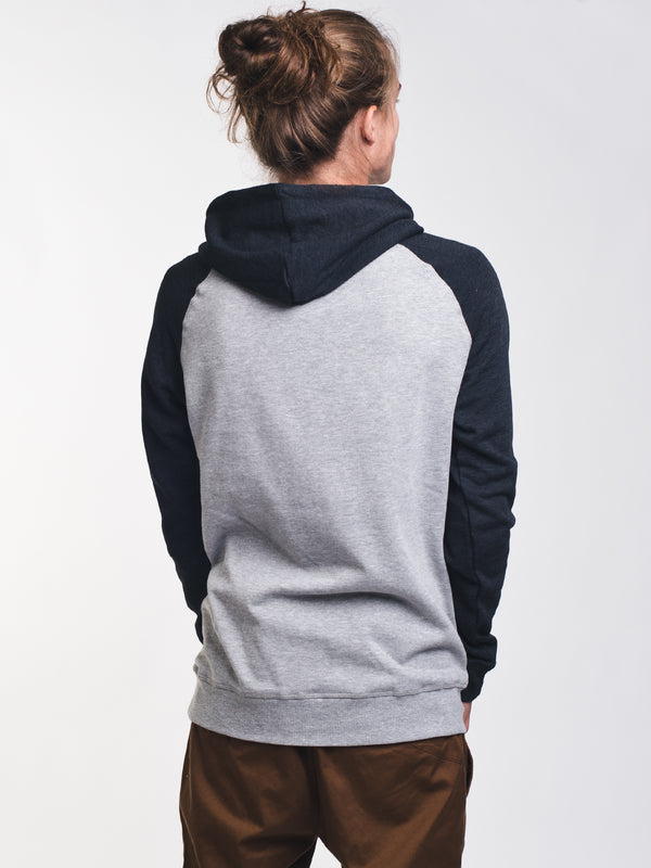 MENS OBERON PULLOVER HOODY - GREY/BLACK