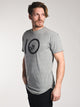 MENS VINTAGE SHORT SLEEVE LONGT-SHIRT- GREY