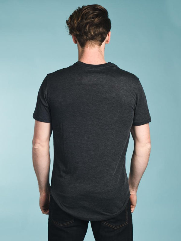 MENS JUNIPER POCKET LONG SHORT SLEEVE T-SHIRT - BLK