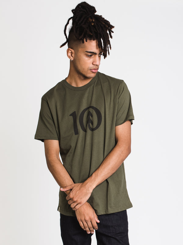 MENS TEN CLASSIC T - OLIVE NIGHT